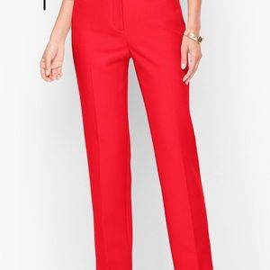 NWOT Talbots red Hampshire Ankle pants